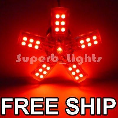 ~2 1157 RED 41-SMD TAIL BRAKE SPIDERLITE LED LIGHT BULB