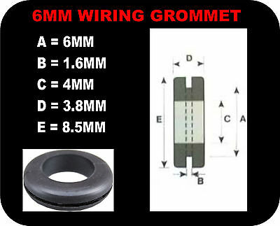"""RUBBER GROMMETS 6 9 12 16 20 25 32 38 50mm 1/4 3/8 1/2 5/8 1"""" 2"""" cable"""