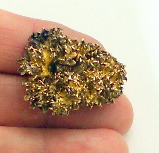 Vintage FLORA Sterling Silver Gold Vermeil EGGERT Denmark Brooch Pin