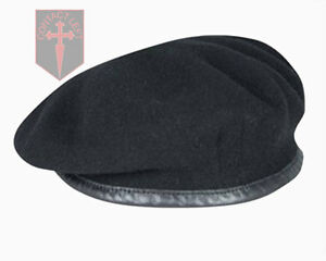 NEW-High-Quality-Black-British-Army-Beret-All-Sizes-RTR-Dragoons