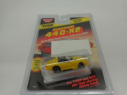 TYCO#9046 Magnum 440-X2 Electric Racing Yellow Dodge Viper NEW IN PACKAGE