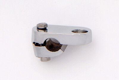 Chromed Heavy Duty Brass Desmo Brackets for mounting lamps Badge Bars Crashbars