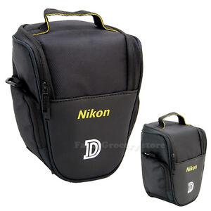 Camara-Digital-SLR-Hombro-llevar-caso-bolsa-para-Nikon-D3400-D5300-D5600-D610-D750