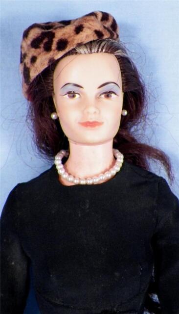 Vintage Lisa Littlechap Doll 1963 Remco Industries Family Black Dress Hat 1 Shoe