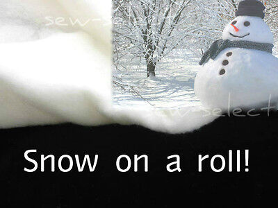 Snow roll 40mt x 70cm EXTRA THICK 4oz imitation fake snow Christmas decoration