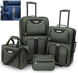 Traveler-039-s-Choice-4-Piece-Lightweight-Journey-Travel-Collection-Luggage-Set