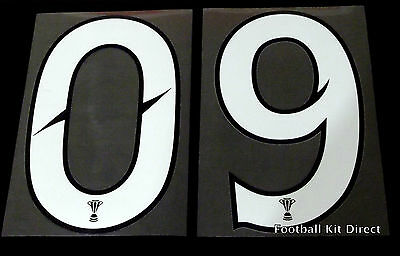 Official Scottish Premier League Football Shirt Numbers 0-9 SPL