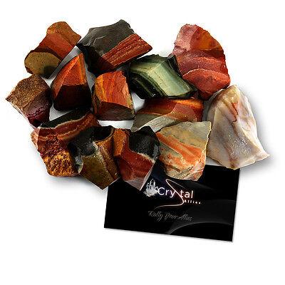 "Crystal Allies Materials: 1/2lb Bulk Rough Desert Jasper Large 1"" Stones"