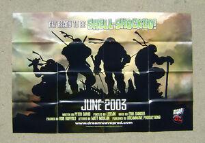 Teenage Mutant Ninja Turtles Promotional Poster 2003 DW/Mirage 24 x 36 TMNT