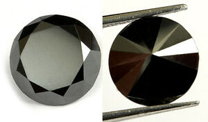 2-55-ct-Jet-Black-Natural-Diamond-Excellent-Brilliant-cut-Opaque