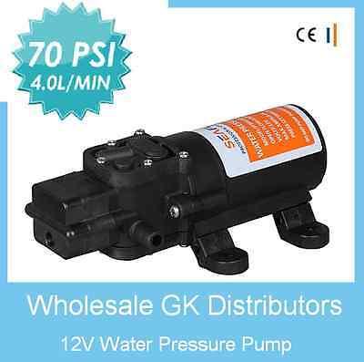 12V Pressure Diaphragm Water Self Priming PUMP - High 70 PSI 4 L/MIN Boat/RV NEW