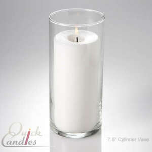 Details about 12 glass cylinder vases 7 5 tall use with pillar candle