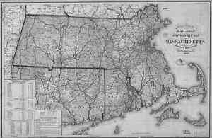 1879 MA Map Middleton Milford Millbury Millis Milton Monson Middleboro HISTORY