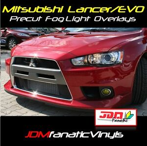 08-17 Lancer EVOLUTION Fog Light Rally EDM JDM Yellow O