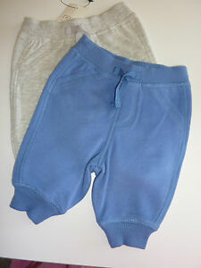 NEXT 2 Cute Little Pairs Boys Trackie Bottoms First Size ...
