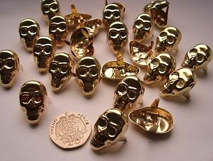 Gold-Skull-Studs-NEW-punk-rock-goth-emo-gothic-stud-biker-retro-grunge-leather