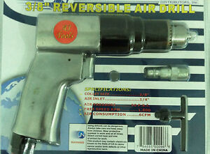 3-8-034-Air-Drill-Pneumatic-Reversible-Auto-Mechanics-New-in-Package-With-Warranty