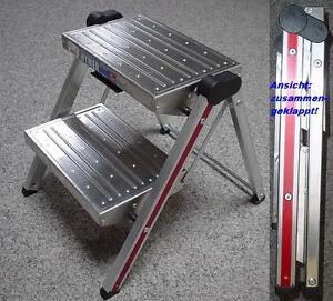 hymer aluminium klapptritt 2 stufig 6030 02 603002 ebay. Black Bedroom Furniture Sets. Home Design Ideas