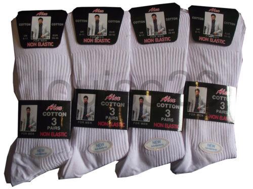 303 Homme 3prs Non élastique easy Grip Chaussettes de Coton 6-11