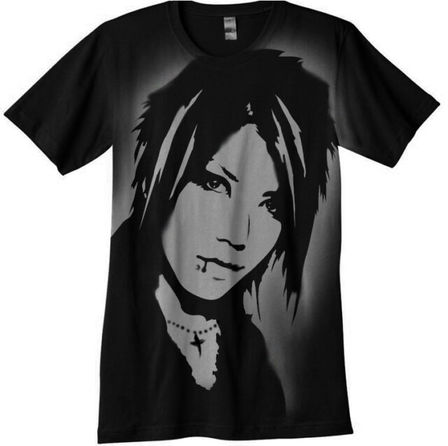 Aoi  T-Shirt airbrushed with stencils The Gazette jrock