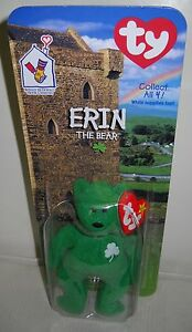 abc4d2cd83a 3717 NRFC McDonald s Ty Erin the Bear From Ireland Teenie Beanie ...
