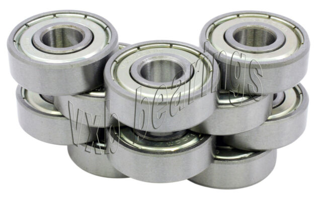 10 608ZZ 8x22x7 8mm/22mm/7mm 608Z Miniature Ball Shielded Radial Ball Bearings