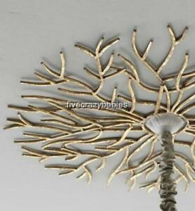 Large-38-Horchow-CEILING-MEDALLION-Chandelier-Mount-Golden-TWIG-Branch-Iron