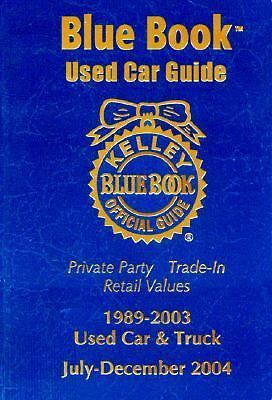 Kelley Blue Book Used Car Guide Consumer Edition 1989 2003 Models Free Shipping