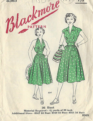 "1940s Vintage Sewing Pattern B36"" SKIRT, SUN TOP & BLOUSE (R97)"