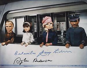 GERRY-ANDERSON-amp-SYLVIA-ANDERSON-SIGNED-THUNDERBIRDS-PHOTO-UACC-RD-AUTOGRAPH