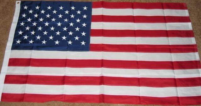 3X5 NYLON AMERICAN FLAG USA US EMBROIDERED STARS F720