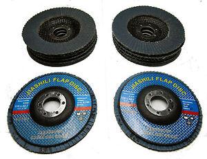 ZIRCONIUM-5-X-80-5-X-120-GRIT-SANDING-FLAP-DISCS-FOR-ANGLE-GRINDER-ZURCONIUM