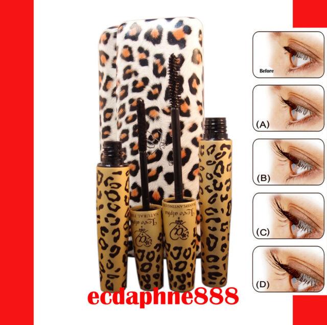 Love Alpha LA729 2 Piece Mascara Gel & Fiber Black Mascara Eyelash Set New