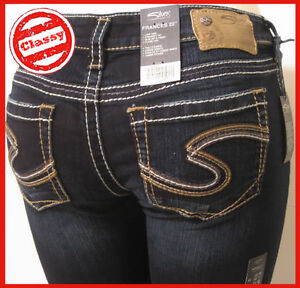 NEW-SILVER-JEANS-CO-Frances-22-Pica-Women-Flare-Jeans-Bell-Bottom-Stretch