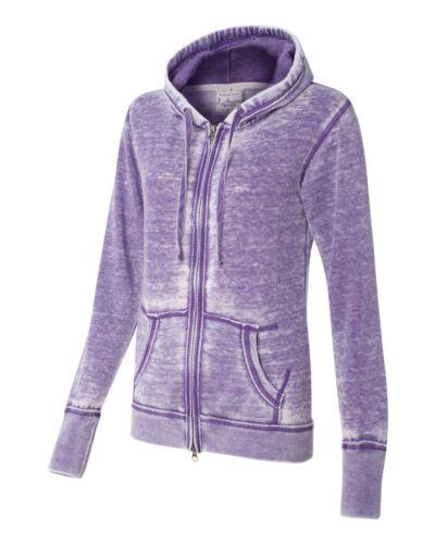 America Ladies Vanity Zen Yoga Fleece Full-Zip Hooded Sweatshirt 8913 S-2XL J