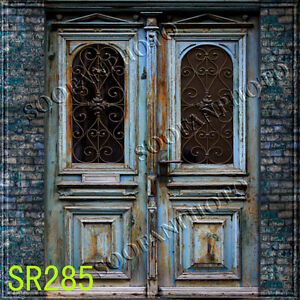 Door &amp; Brick 8&#039;x8&#039; (CP) Computer-paint<wbr/>ed Scenic background backdrop SR285B66