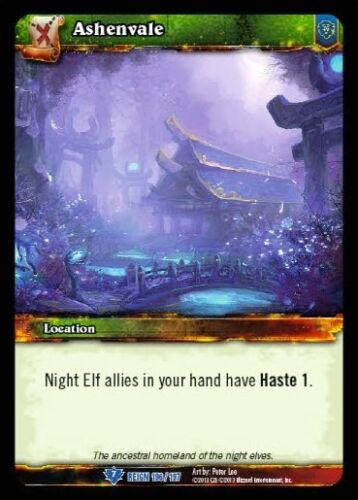 WORLD OF WARCRAFT WOW TCG REIGN OF FIRE : ASHENVALE X 3