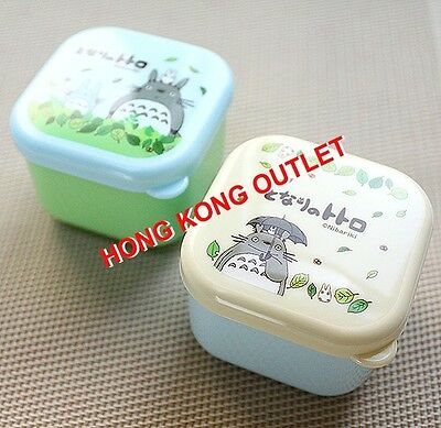 Totoro Bento Lunch Snack Box Case 2Pcs Set Japan Made   A41b