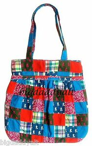 NEW-DISNEY-WORLD-PARKS-PATCHWORK-MICKEY-MOUSE-PLAID-TOTE-HAND-BAG-PURSE