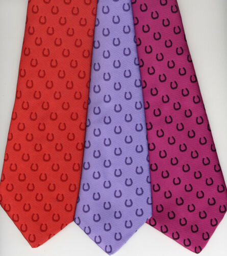 Horse Shoe Show Tie Adult's 100% Polyester UK Manufactured