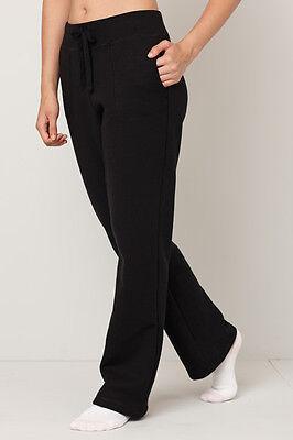 Comodo pantalone donna felpato elastico in vita S M L XL XXL fondo aperto