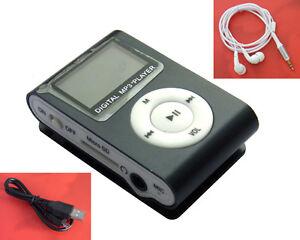 Black-Mini-Metal-Clip-MP3-Player-FM-Radio-LCD-Screen-for-2-4-8-16GB-TF-Card