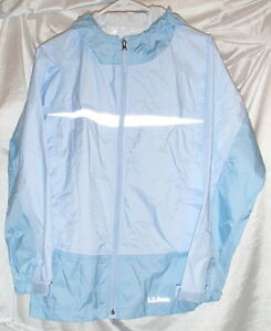 LL Bean Girls Light Blue Waterproof Trail Model Rain Jacket Kids ...