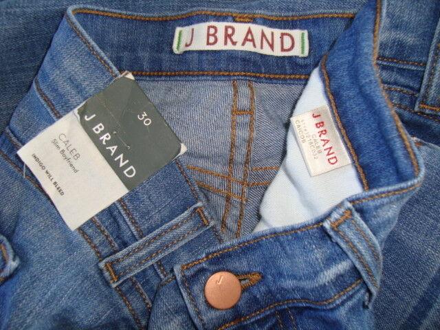 NWT J BRAND CALEB Low-Rise CAICOS Wash Slim Boyfriend Jeans Made in USA Sz 30