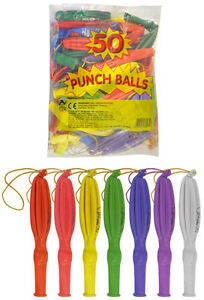 50-PUNCH-BALL-BALLOONS-BOYS-GIRLS-PARTY-BAG-TOYS-GOODY-LOOT-BAG-FILLERS-EU-MADE