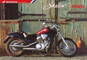 Honda VT600C Shadow Prospekt 11/93 brochure Broschüre Motorrad Asien Japan 1993