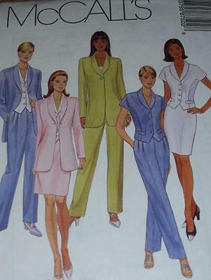 McCALL'S #8750- LADIES THIGH or WAIST LENGTH JACKET-SKIRT & PANTS PATTERN 6-22uc