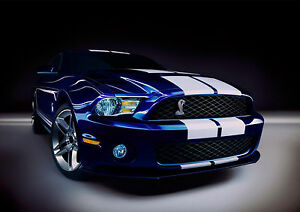 Ford-Mustang-GT500-Poster-One-Piece-Wall-Art-Print