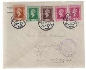 1946 Netherlands First Flight Cover to Curacao FFC