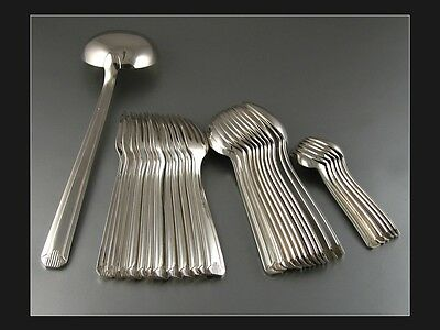 Vintage French Art Deco Silverplated Flatware Set, 84 gr., 31 pcs